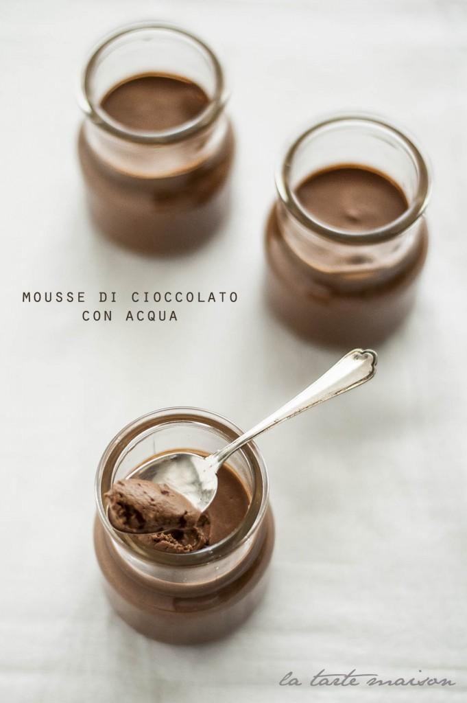 Mousse cioccolato e acqua