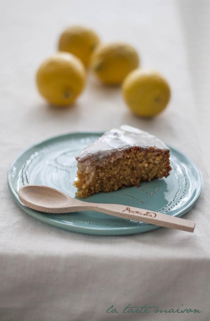 Lemon polenta cake latartemasion