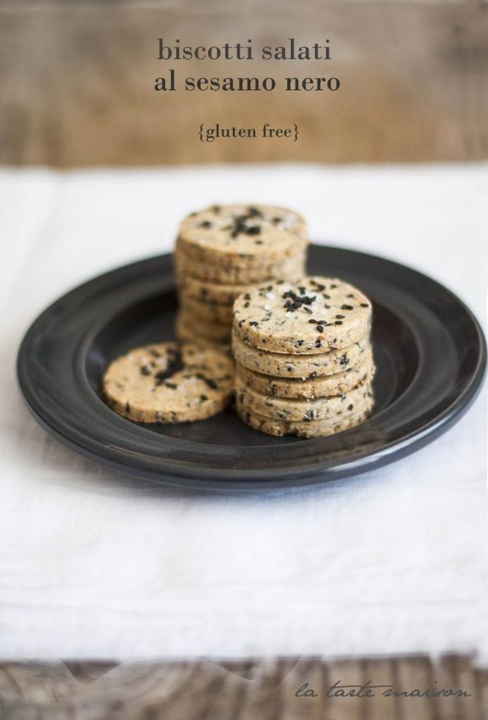 Biscotti salati al sesamo nero gluten free