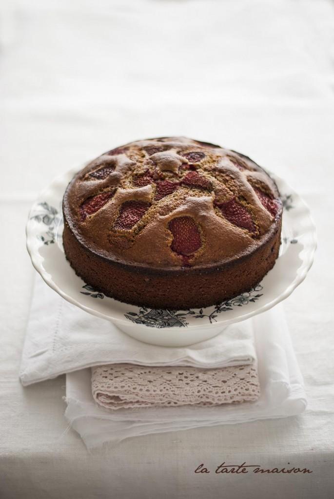 Torta rustica alle fragole