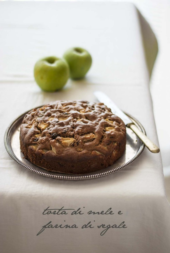 Torta di mele e farina di segale