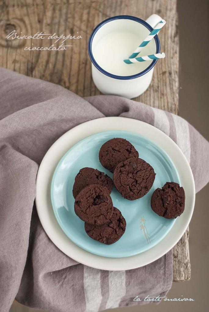Biscotti doppio cioccolato olio