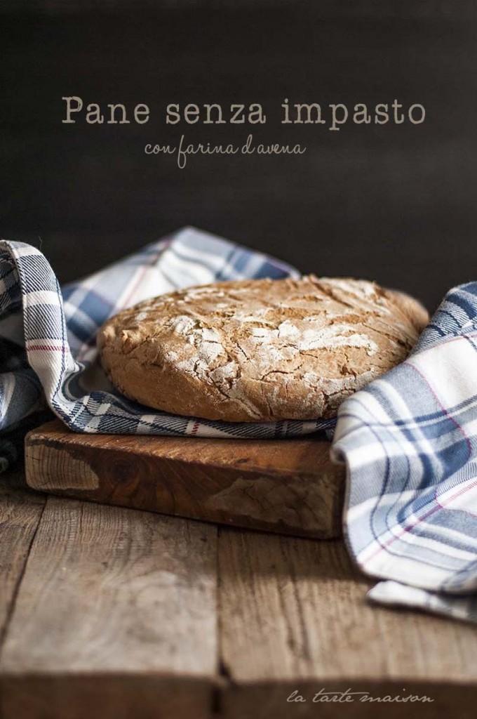 Pane senza impasto con farina d'avena