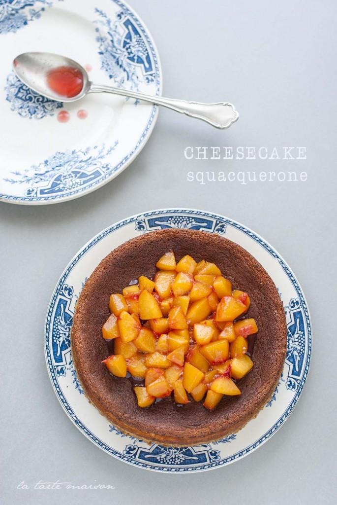 Cheesecake allo squacquerone