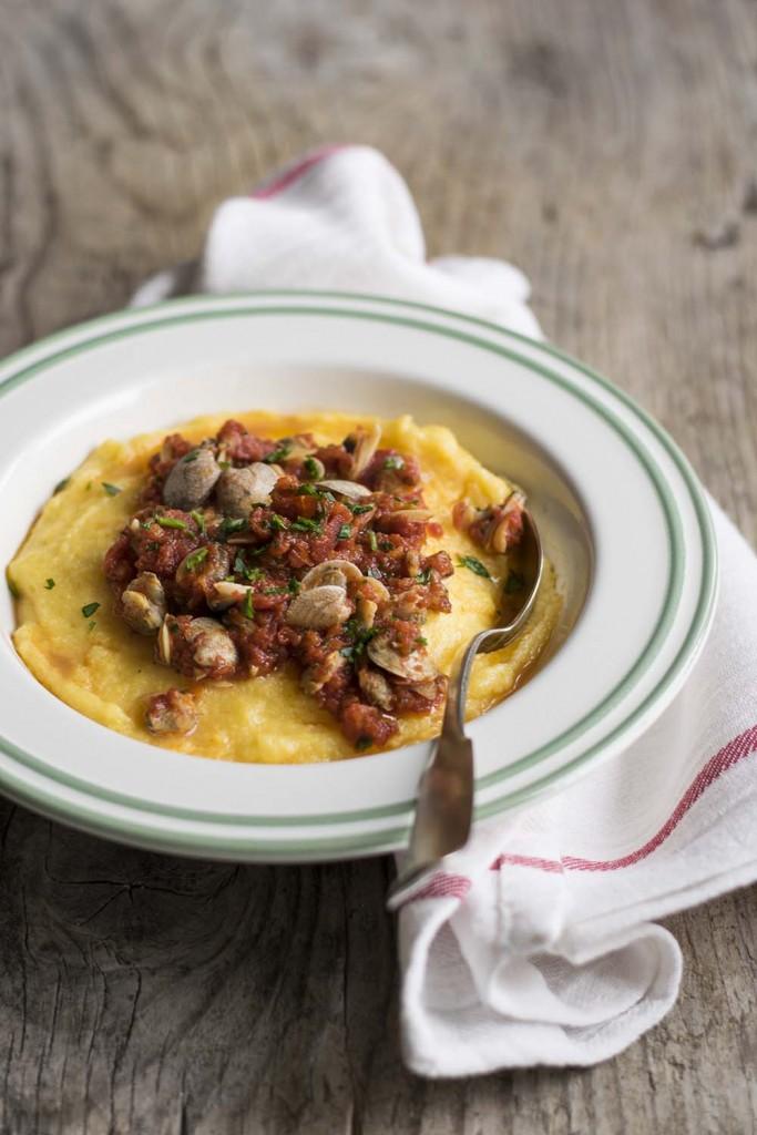 polenta con vongole