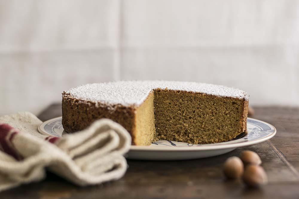 torta farro e nocciole