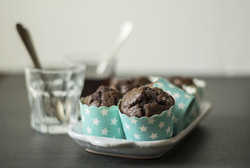 Muffins doppio cioccolato