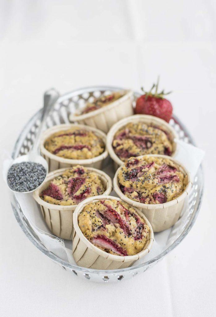 Muffin alle fragole (senza glutine)