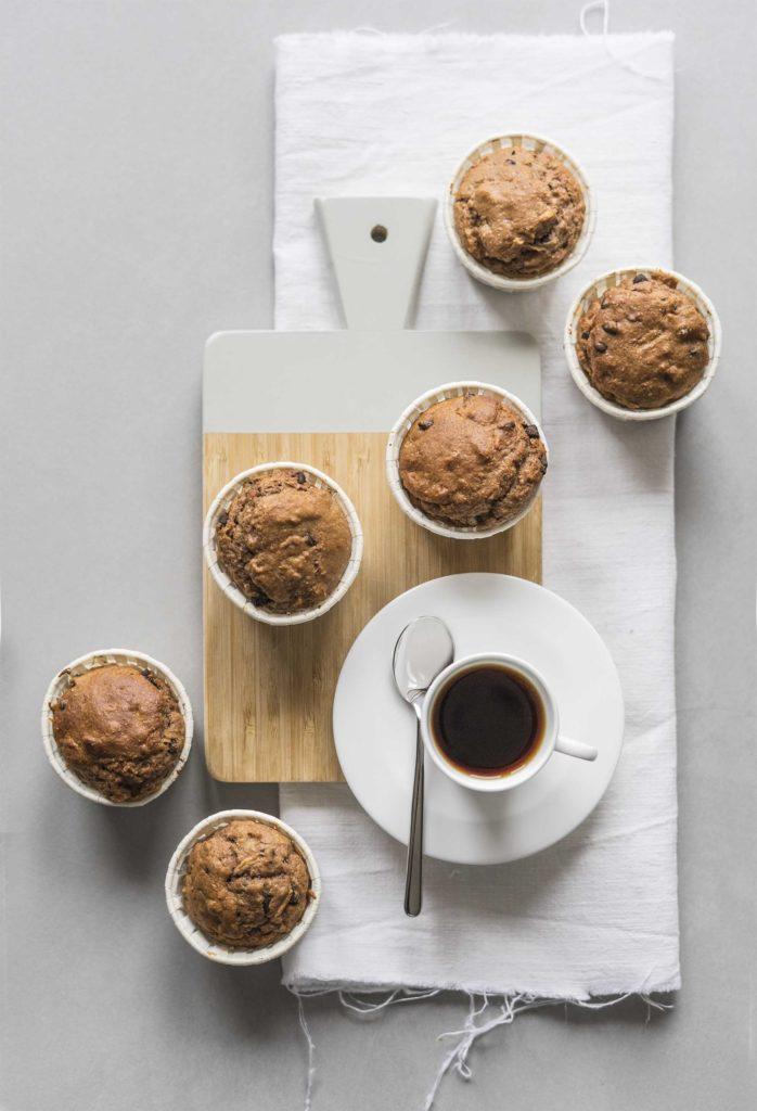 Muffins con concentrato datteri mela cioccolato