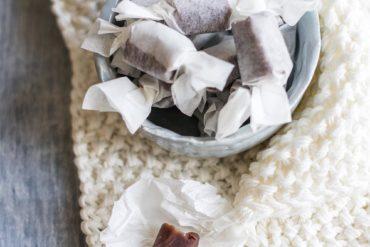 caramella mou al cioccolato fatta in casa