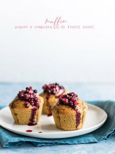 Muffin yogurt e frutti rossi