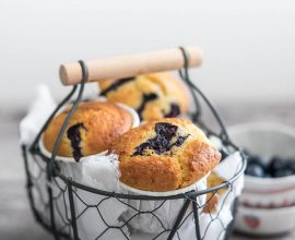 Muffin integrali con mirtilli