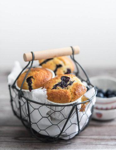 Muffin integrali con mirtilli