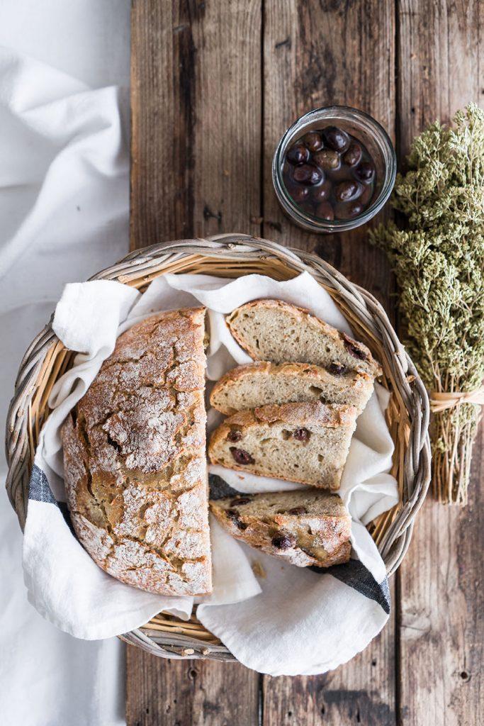 Pane senza impasto alla greca