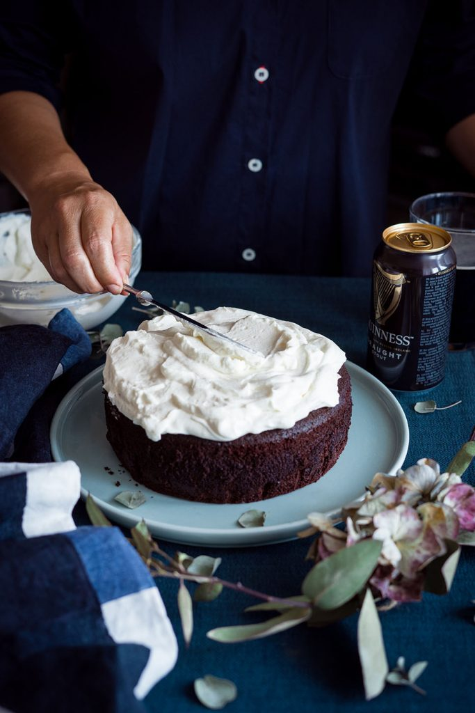 Guinness cake con frosting